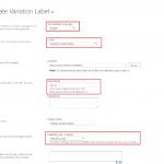 Create variation Label