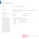 Edit Timer Job