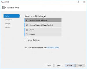 Publish Microsoft Azure Web Apps