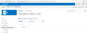 Variation Item List