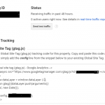 Google Analytics Tracking snippet
