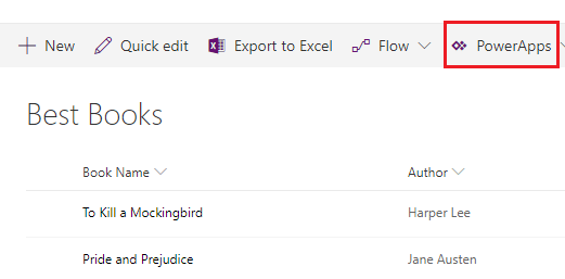 Create new PowerApps