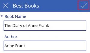 Add a book name