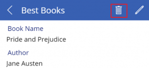 Delete a record in offline mode