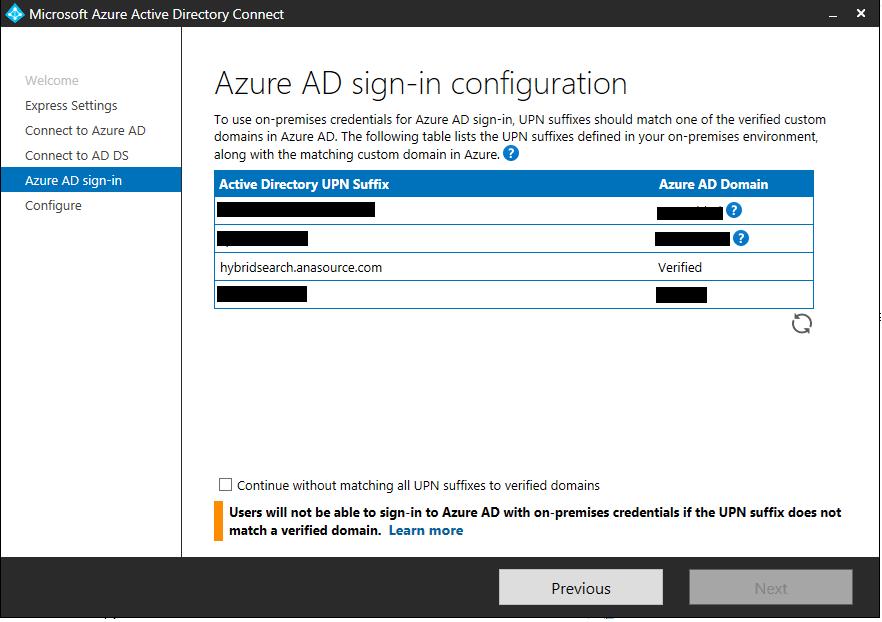 Azure AD signin configuration