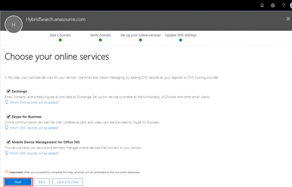 Choose your online services