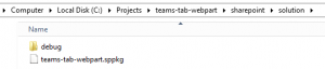 Creates a package teams