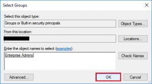 Enterprise admins configuration