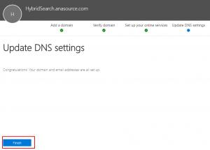 Finish update dns settings