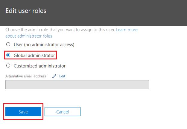 Global administrator