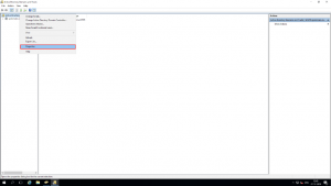 Right click on the root node and select Properties.