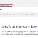Sharepoint framework extension