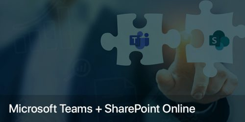 Communication hub for teamwork – Microsoft Teams + SharePoint Online