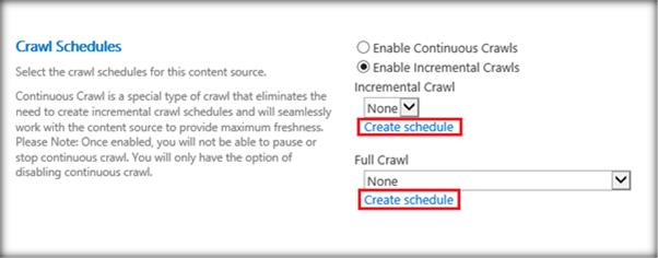 crawl schedules